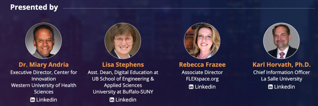 Dr. Miary Andria, Lisa Stephens, Rebecca Frazee, Karl Horvath presenting.